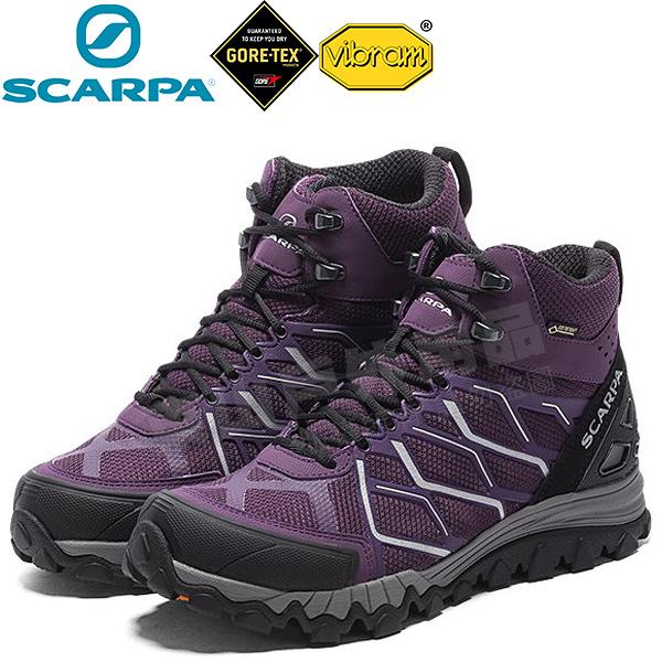 Scarpa 63350紫/銀 Nitro Hike GTX 女防水登山鞋 Gore-tex透氣健行鞋/黃金大底越野鞋