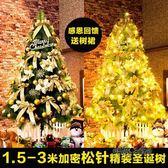 1.5 1.8 2.1 2.4 3米鬆針聖誕樹套餐場景裝飾大型豪華加密聖誕樹「時尚彩虹屋」