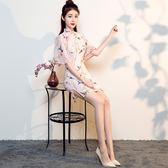 改良旗袍中長款連衣裙少女日常清新淑女短款秋季       SQ7547『寶貝兒童裝』TW