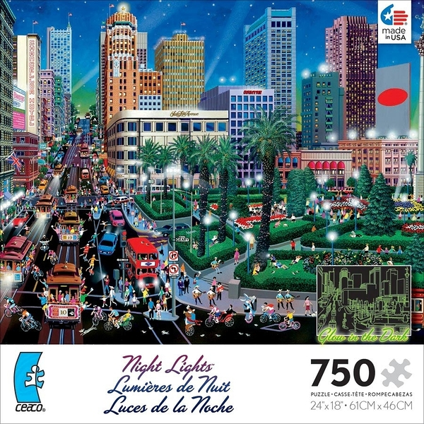【美國 Ceaco】夜光拼圖-Night Lights Assorted-San Francisco(750片) #1142-9