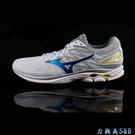 MIZUNO 女慢跑鞋 高彈性避震性佳 超透氣鞋面 WAVE RIDER 20 白色鞋面  【1143】