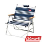 Coleman 輕薄折疊椅/藍條紋 休閒椅|太師椅 CM-31288