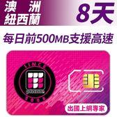 【TPHONE上網專家】澳洲/紐西蘭 8天無限高速上網 每天前面500MB支援高速 插卡即用