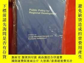 二手書博民逛書店Public罕見Policy for Regional Development (小16開) 【詳見圖】Y54