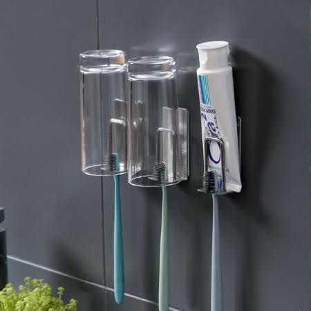 不鏽鋼牙刷架(單入) 牙刷架 漱口杯架 304不鏽鋼 不銹鋼 免打孔 壁掛 居家 浴室 牙刷置物架 置物架