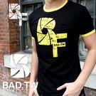 奢華壞男《 BF 限量款 - 超舒適彈性合身剪裁T恤 (黑底滾黃邊)  》【S / M / L / XL / XXL】(潮T、上衣)
