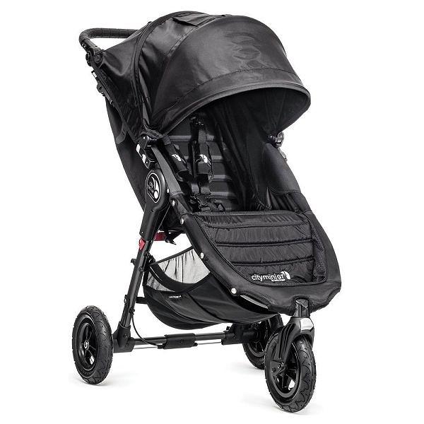 美國 baby jogger City Mini GT Fold 單手秒收 輕慢跑推車 黑色
