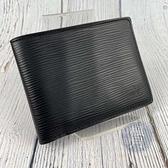 BRAND楓月 LOUIS VUITTON LV 路易威登 M60662 EPI黑兩折短夾 錢包 皮夾 錢夾 經典實用