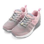 PLAYBOY 簡約生活 針織綁帶氣墊休閒鞋-灰粉