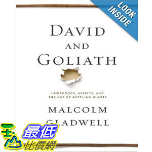 【103玉山網】 2014 美國銷書榜單 David and Goliath: Underdogs, Misfits, and the Art of Battling Giants  $913