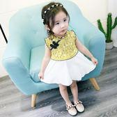 0-1-2歲女寶寶夏季連衣裙嬰兒夏裝裙子3小童旗袍2018新款正韓洋氣