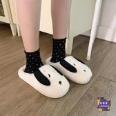 棉鞋 日韓ins學生可愛卡通棉拖鞋女冬室內居家用保暖毛毛拖兒童 交換禮物