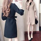 風衣外套女風衣女中長款春秋季女裝2018新款韓版收腰顯瘦女式時尚 洛麗的雜貨鋪