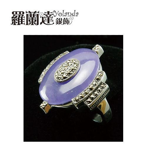 戒指925純銀。天然紫玉髓民族風。復古系列。戒圍#12。內徑約1.6CM。【羅蘭達銀飾】