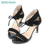 Bo Derek 綁帶繞踝高跟涼鞋-黑色