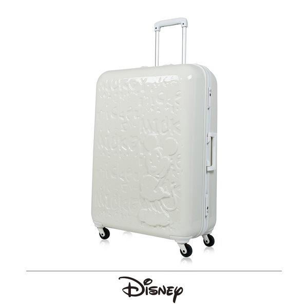 CROWN皇冠 新版上市 2018 夢想米奇MICKEY 行李箱/旅行箱-25吋-白色白框(活動價7折)
