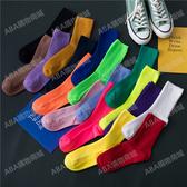 襪子女潮網紅款中筒襪ins潮百搭韓國夏天薄款日系純色夏季堆堆襪
