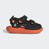 Adidas Water Sandal Ct I [GX2479] 小童鞋 涼鞋 運動 休閒 舒適 保護 愛迪達 黑 橘