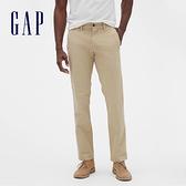 Gap男裝 棉質微彈直筒型休閒褲 500359-卡其色