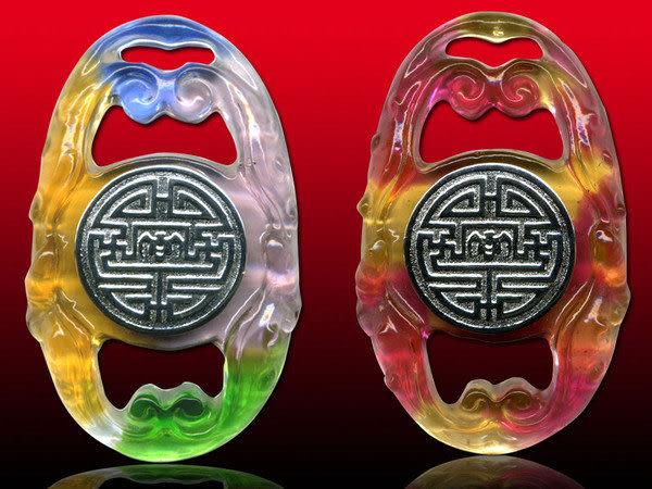 鹿港窯~開運古法水晶琉璃銀飾項鍊~福壽圓滿◆附精美包裝◆免運費送到家