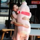 (特大號 120CM)豬豬公仔 睡覺抱枕 大布偶娃娃 毛絨玩具 超軟【交換禮物】