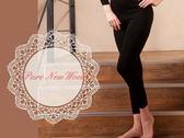 【大盤大】 (W328) 澳洲美麗諾 女 防縮 黑色 純羊毛衛生褲 內搭褲 七分褲 發熱褲 機洗【XL號斷貨】