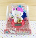 【震撼精品百貨】Hello Kitty 凱蒂貓~太陽能擺飾-粉招財貓
