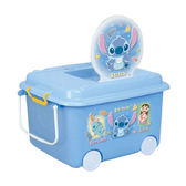 日本 迪士尼 Disney 史迪奇堆疊式玩具收納車/收納箱