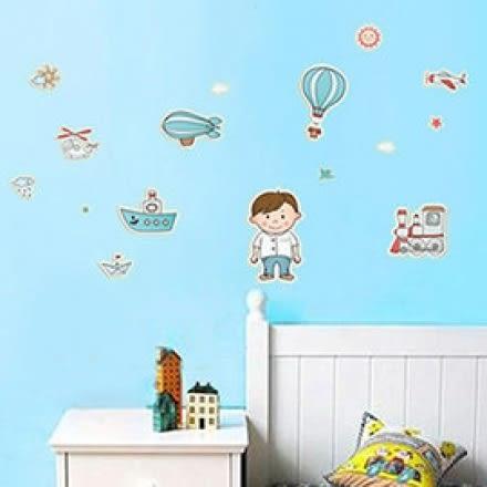 WallFree窩自在 DIY無痕壁貼 牆貼-夢想起飛 Y0009