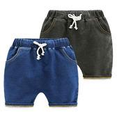 兒童針織彈力牛仔褲寶寶休閒五分褲