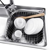 廚房水槽 瀝水架瀝水籃304不銹鋼水池洗菜盆濾淘洗碗池置物可伸縮【優惠兩天】
