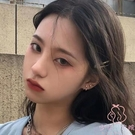 S925銀針耳釘女時尚簡約耳環后掛式耳飾【少女顏究院】