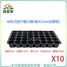【綠藝家】40孔方型穴盤10個/組(0....