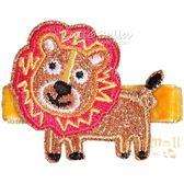 Cutie Bella獅子全包布手工髮夾-Lion