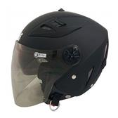 M號 GP-5 232 素色3/4罩式安全帽-消光黑 【亞克】