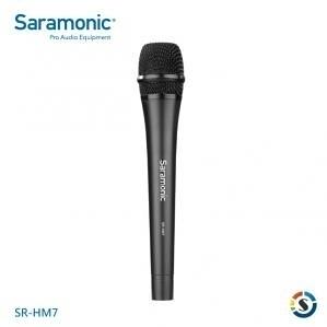 【 XLR】Saramonic 楓笛 SR-HM7 XLR卡農接頭手持麥克風【公司貨】採訪錄音 影片拍攝 直播