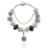 串珠手鍊-歐美個性時尚黑色水晶飾品女配件73kc114【時尚巴黎】