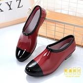 雨鞋女時尚潮流低幫水鞋淺口短筒雨靴膠鞋防滑水靴【輕奢時代】