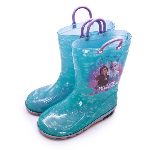 LIKA夢 Disney 迪士尼 17cm-21cm 冰雪奇緣 FROZEN 兒童雨鞋 高筒雨靴 台灣製造 藍紫 04606 中童