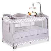 可折疊兒童床多功能兒童床拼接大床新生兒BB床帶蚊帳xw