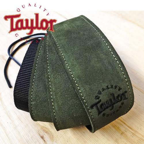 【敦煌樂器】TAYLOR TLOP-65120 墨綠色麂皮尼龍吉他貝斯背帶