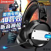 電腦耳機頭戴式耳麥7.1聲道電競游戲有線電腦手機通用 萬客城