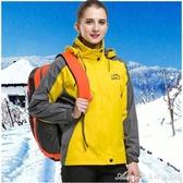 沖鋒衣男女加厚秋冬裝耐磨防風防水透氣黃色夾克衫團體工作服訂製 交換禮物