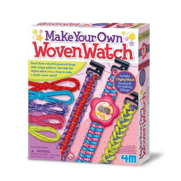 【4M】美勞創作系列 - 編織絢麗錶帶 Woven Watch 00-04680
