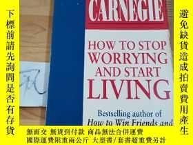 二手書博民逛書店DALE罕見CARNEGIE HOW TO STOP WORRYING AND START LIVINGY15