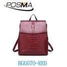 POSMA 時尚簡約風 側背包 手提包 BGG070-RED