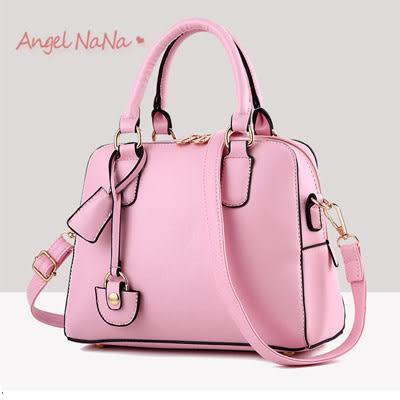 手提包。歐美OL風 時尚 定型 手提包 女斜背包(SBA0175)AngelNaNa