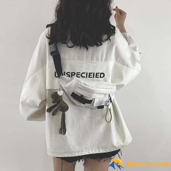 斜背包日系原宿工裝胸包女韓版學生帆布斜挎腰包潮
