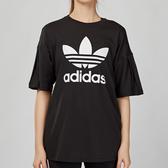 Adidas Originals 女款 黑色 經典 三葉草LOGO 短袖 上衣 EC1884