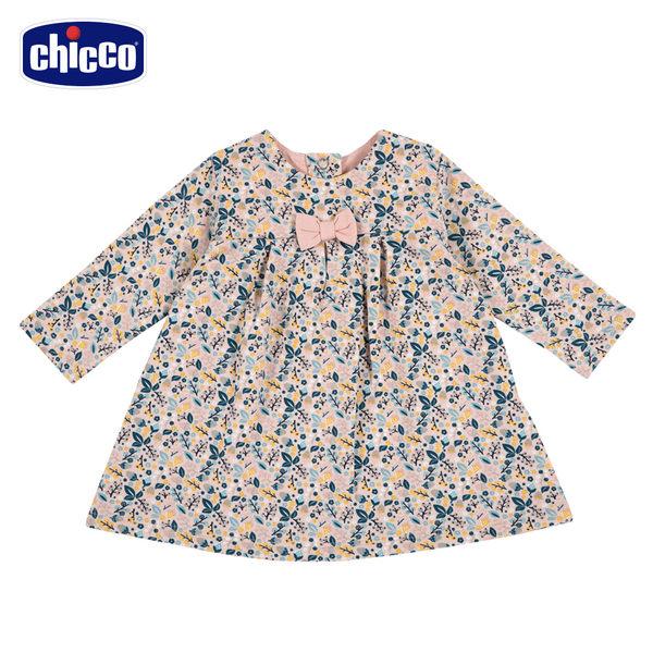 chicco-TO BE Baby-碎花長袖洋裝